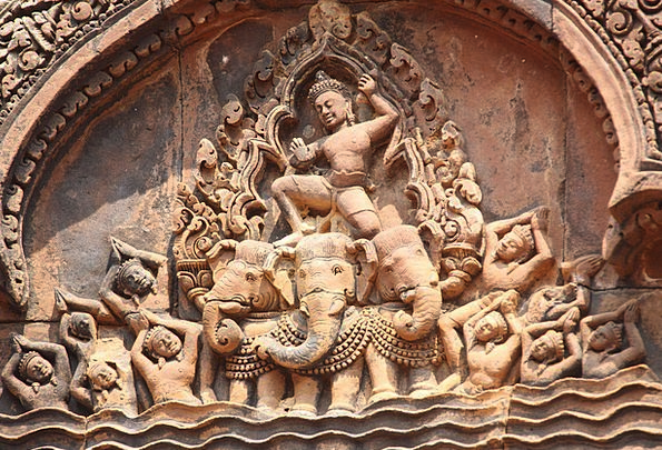 Angkor Wat Shrine Cambodia Temple Banteay Srei Sta