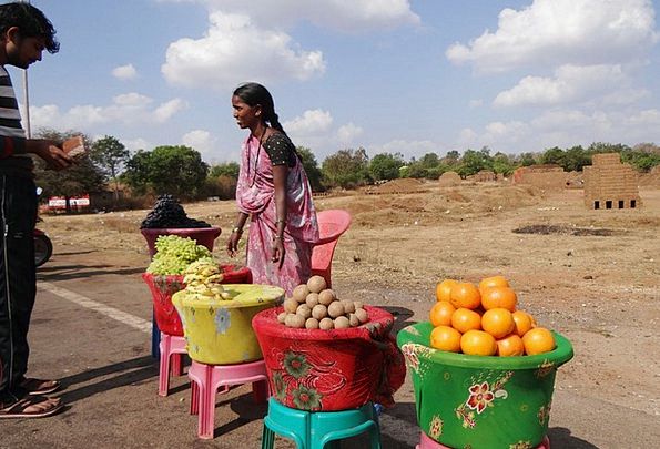 Fruit Vendor Drink Food India Dharwad Agriculture