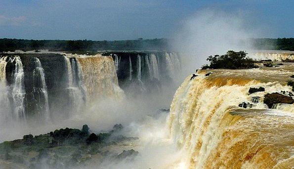 Falls Waterfalls Brazil Foz Do Iguaczu
