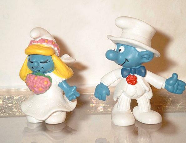 Bride And Groom Bridal Smurfs Wedding Fig