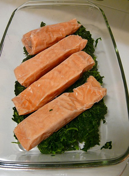 Salmon Drink Food Eat Bother Spinach Food Nourishm
