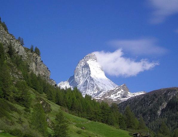 Matterhorn Mountains Crags Zermatt Alpine Mountain