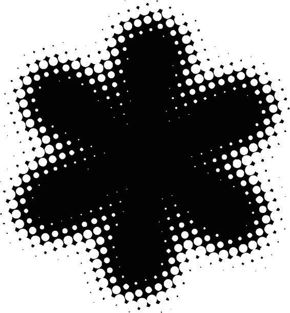 Flower Floret Pixels Petals Dots Spots Free Vector