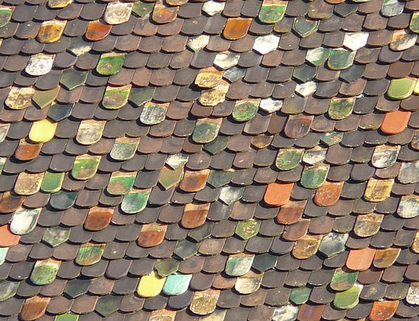 Roof Rooftop Buildings Tiling Architecture Colorfu