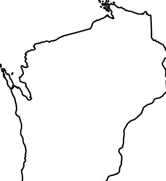 Wisconsin, National, Map, Chart, State, Outline, Plan, Shape ...