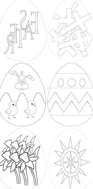 Easter Easter Stickers Easter Symbols Spring Coil