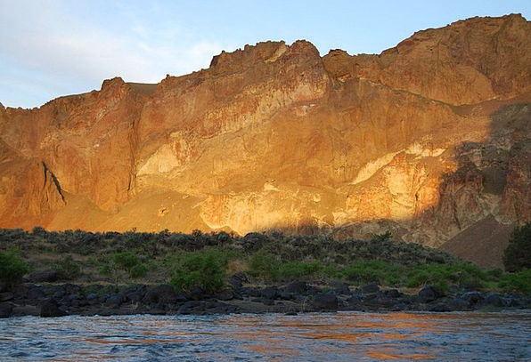 Mountains Crags Vacation Sundown Travel River Stre