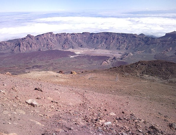 Teide Crater Hollow Volcano Spain Cladera