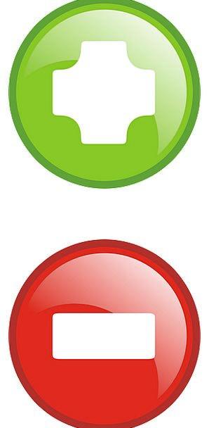 Plus Desirable Disadvantage Icons Images Minus Dec