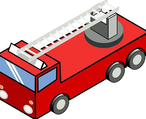 Firetruck Traffic Train Transportation Ladder Rank