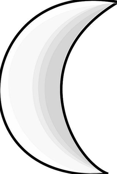 Moon Romanticize Semicircular Sign Symbol Crescent