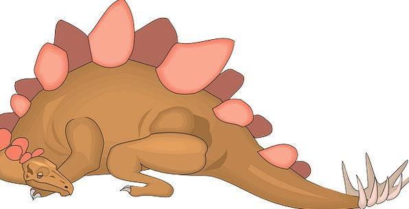 Sleeping Asleep Relic Stegosaurus Dinosaur Ancient