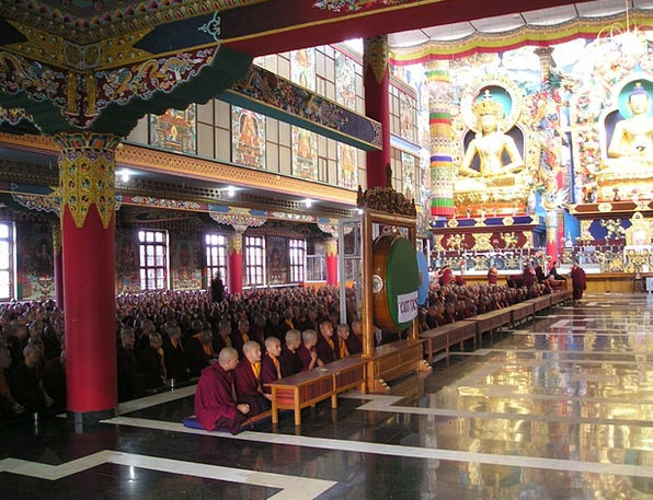 India Temple Shrine Tibetan Monastery Cloister Mon