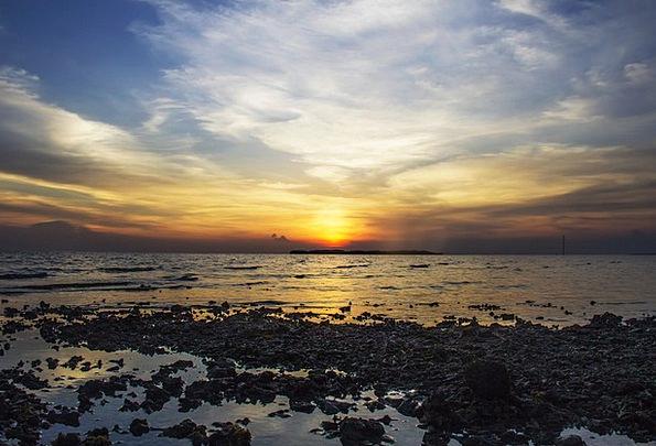 Beach Seashore Vacation Sundown Travel Rocks Pilla