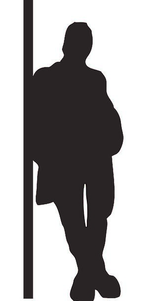 Man Gentleman Outline Leaning Inclined Silhouette