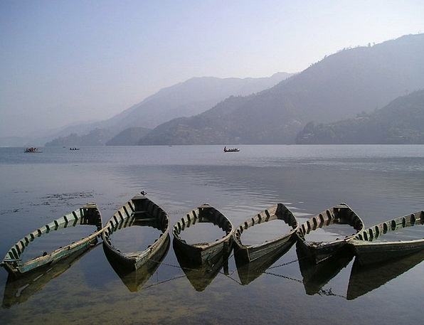Nepal Ships See Understand Boats Pokhara