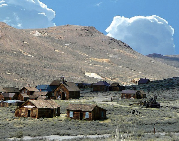 Bodie Ghost Town Landscapes Removal Nature Buildin