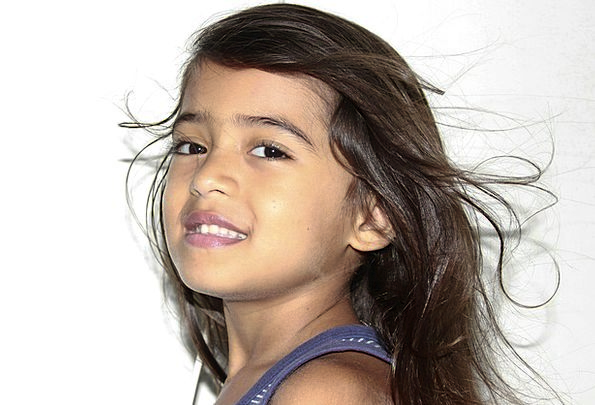 Hair Flying Child'S Hair Beautiful Hair