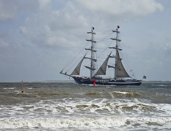Sailing Vessel Vacation Travel Windy Blustery Roug