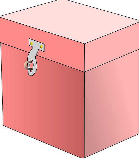 Box Flushed Closed Shut Pink Locked Protected Free