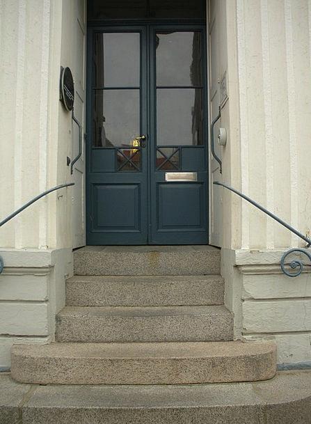Century Period Blue Azure 1800 Door Entrance Glass