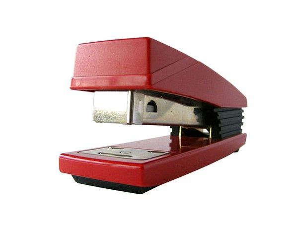 Stapler Bloodshot Fastener Clasp Red Pins Jots Off