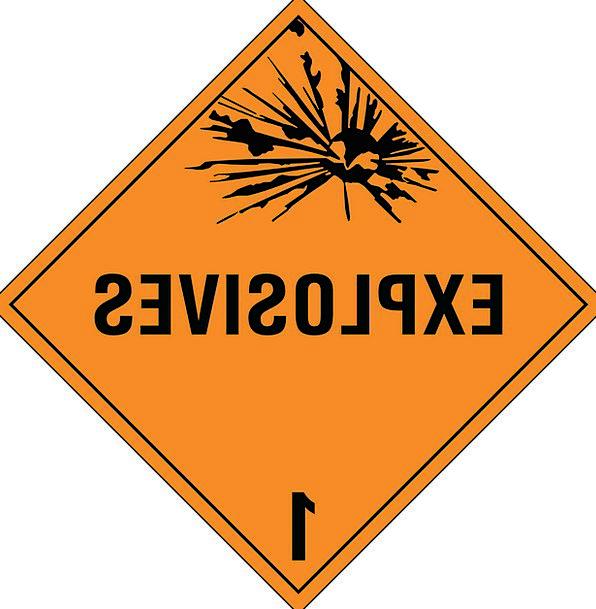 Explosives Blast Explosion Bang Dynamite Warning D