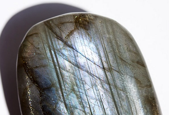 Gem Jewel Ground Crushed Labradorite Macro Polishe