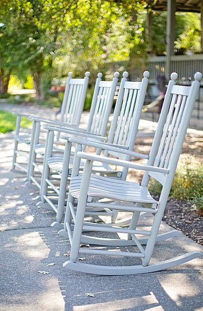 Rocking Chairs Snowy Chairs Seats White Rockers Fa