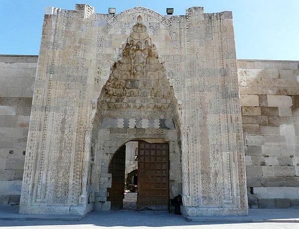 Caravanserai Buildings Architecture Decorated Port