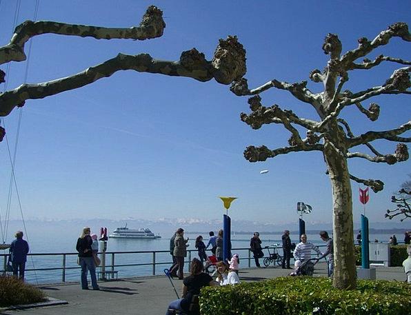Easter Walk Plane Flat Lake Constance Promenade Wa