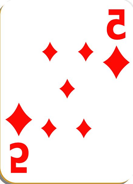 Playing Card Card Diamonds Rhombuses Five Vegas Po