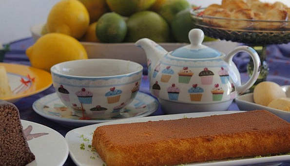 Cakes Bars Nibbles Tea Cups Snacks Serving Sweets