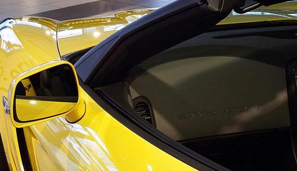 Corvette Yellow Traffic Transportation Auto Car 20