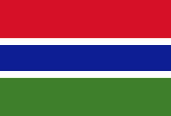 Gambia Standard National Flag Flag Nationality Nat