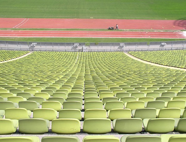 Rows Of Chairs Oympiastadion Rows Of Seats Green L