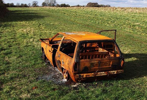 Burned Scorched Traffic Chance Transportation Auto