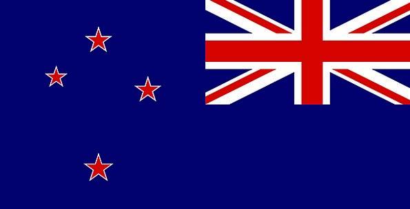 Flag Standard National Nationwide New Zealand Star