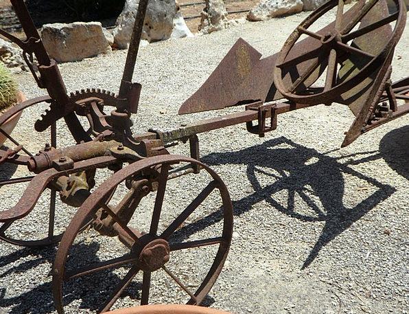 Plough Till Metal Metallic Old Plough Retired Plow