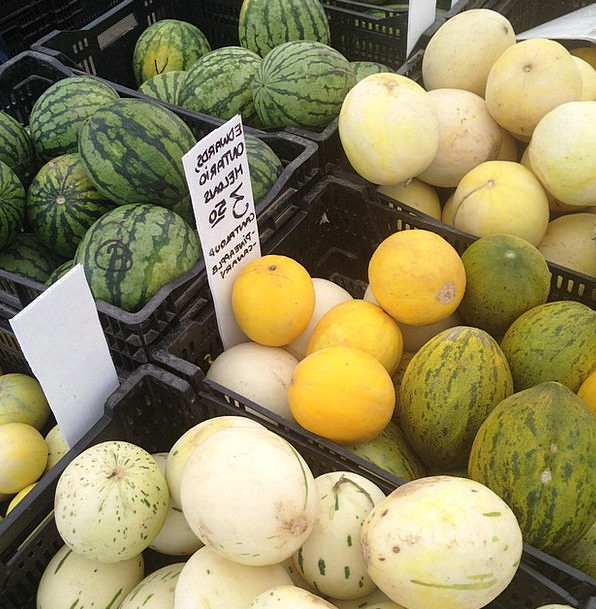 Melons Drink Food Fruit Ovary Watermelons Market M