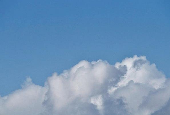 Sky White Snowy Cloudscape Blue Azure Summer Cloud