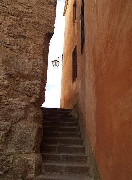 Albarracín Path Teruel Lane Medieval Feudal