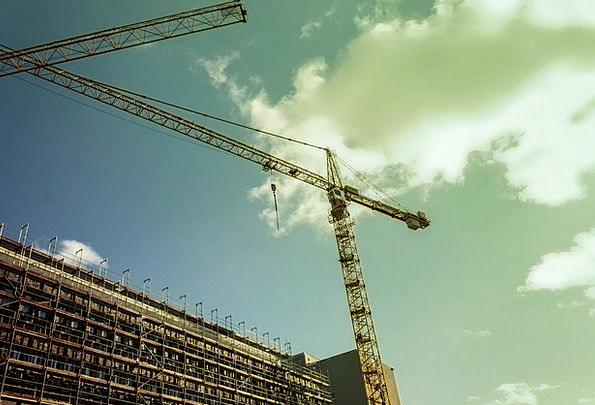 Crane Hoist Load Crane Baukran Build Shape Site Lo