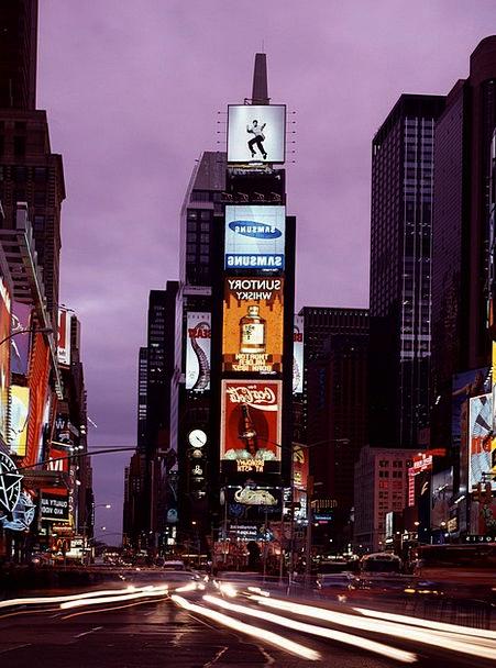 Times Square Monuments Places Dusk Twilight New Yo