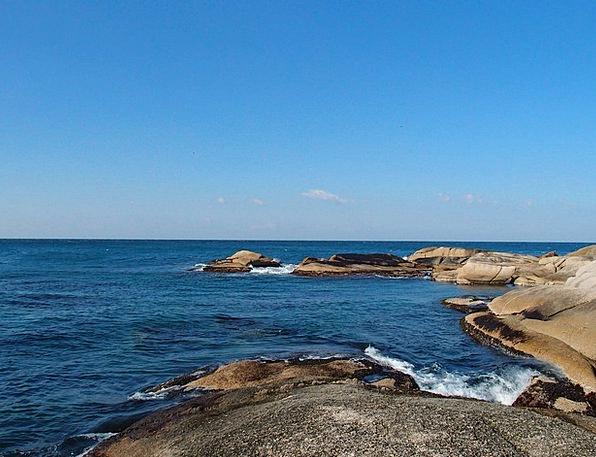 Sea Marine Sky Blue Winter Sea Rock Pillar Waves S