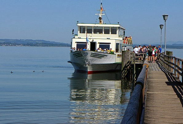 Chiemsee Vessel Pier Dock Ship Web Jetty Breakwate