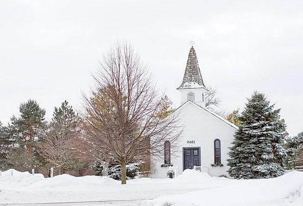Church Ecclesiastical Season Quaint Chapel Winter