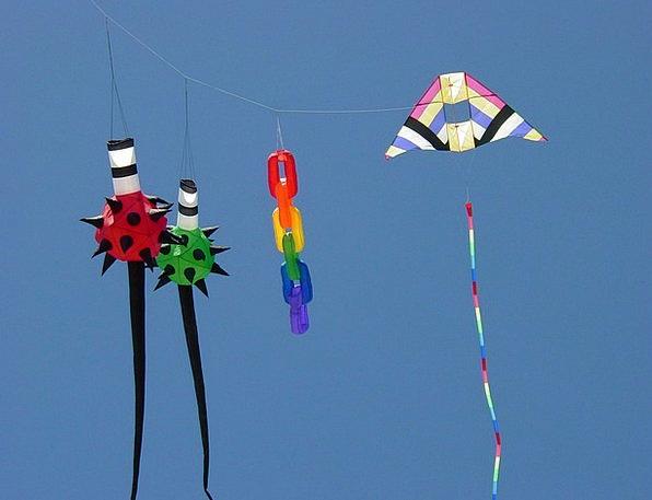 Kites Vacation Interesting Travel Sky Blue Colorfu