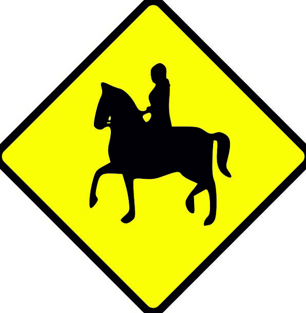 Sign Symbol Carefulness Equestrian Riding Caution