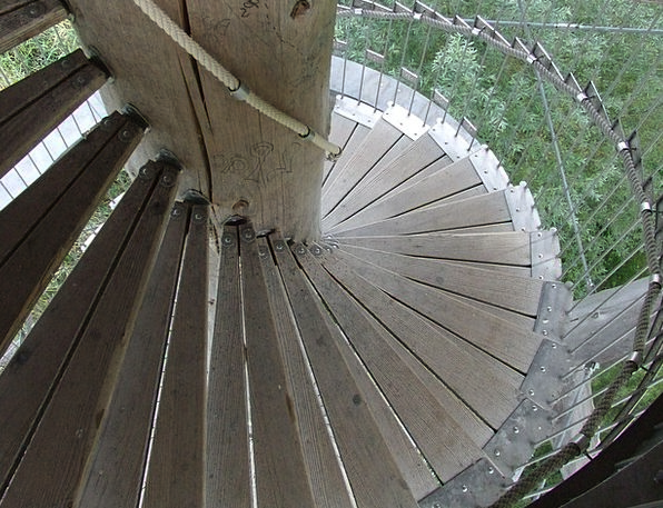 Spiral Staircase Wooden Ladders Tower Stairs Wood